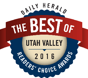 Red and blue logo Best of Utah Valley 2016