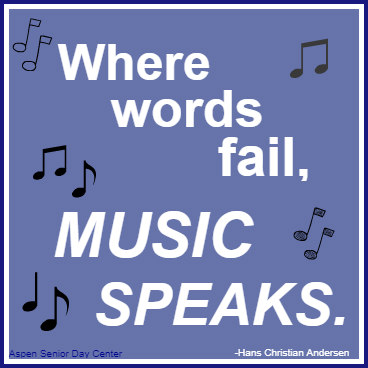 Where words fail, music speaks.