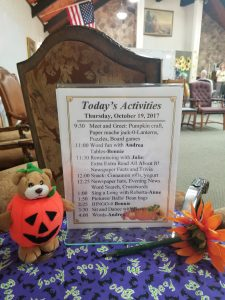 ASDC Schedule - A daily schedule of activities at the Center in Provo, UT