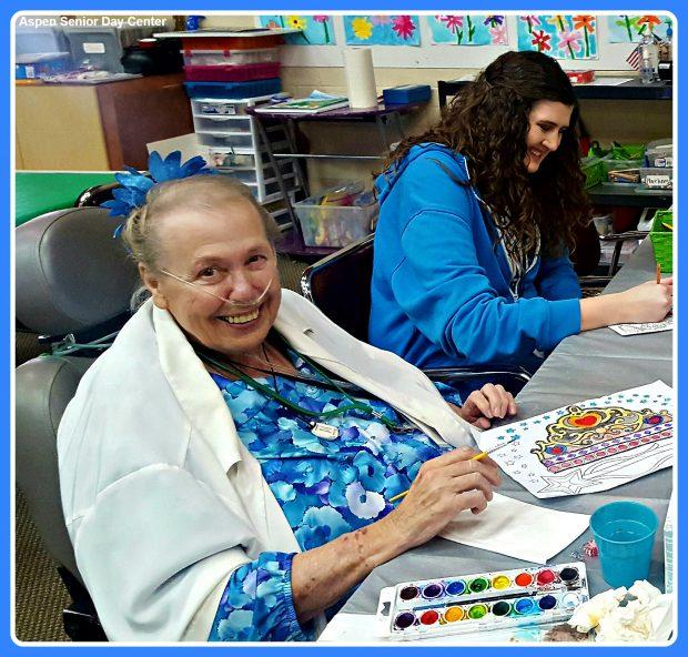 Carolyn loves attending Aspen Senior Day Center in Provo, Utah