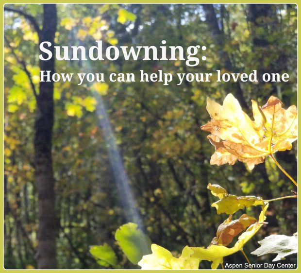 Sundowning: How you can help your loved one - Sunbeam in the fall trees