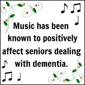 Music positively affects seniors dealing with dementia