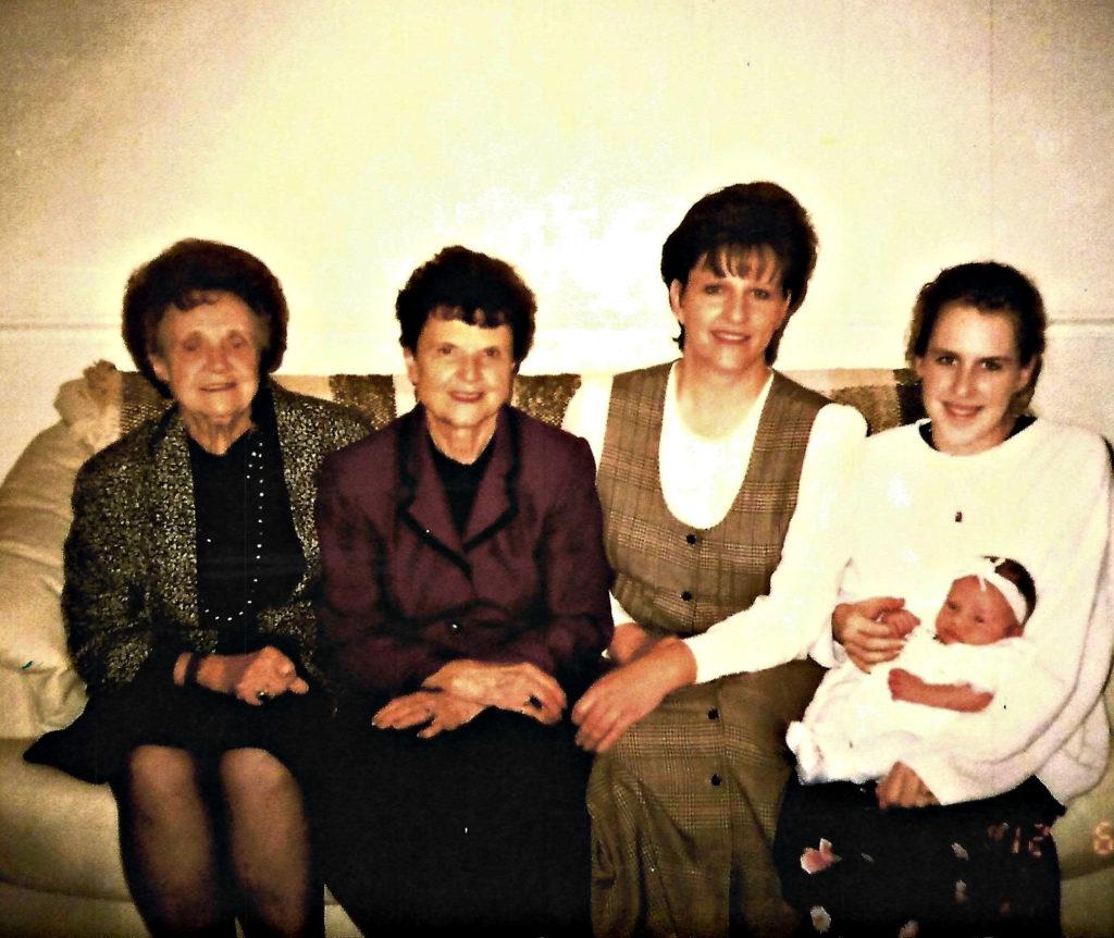 Carol's mother Della, Carol, Alyson, Camille and Mckenna.