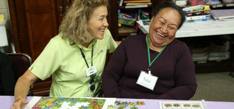 Sala with Anne at Aspen Senior Day Center